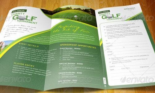 Golf Tri Fold Brochure  Design    Tri Fold Brochure