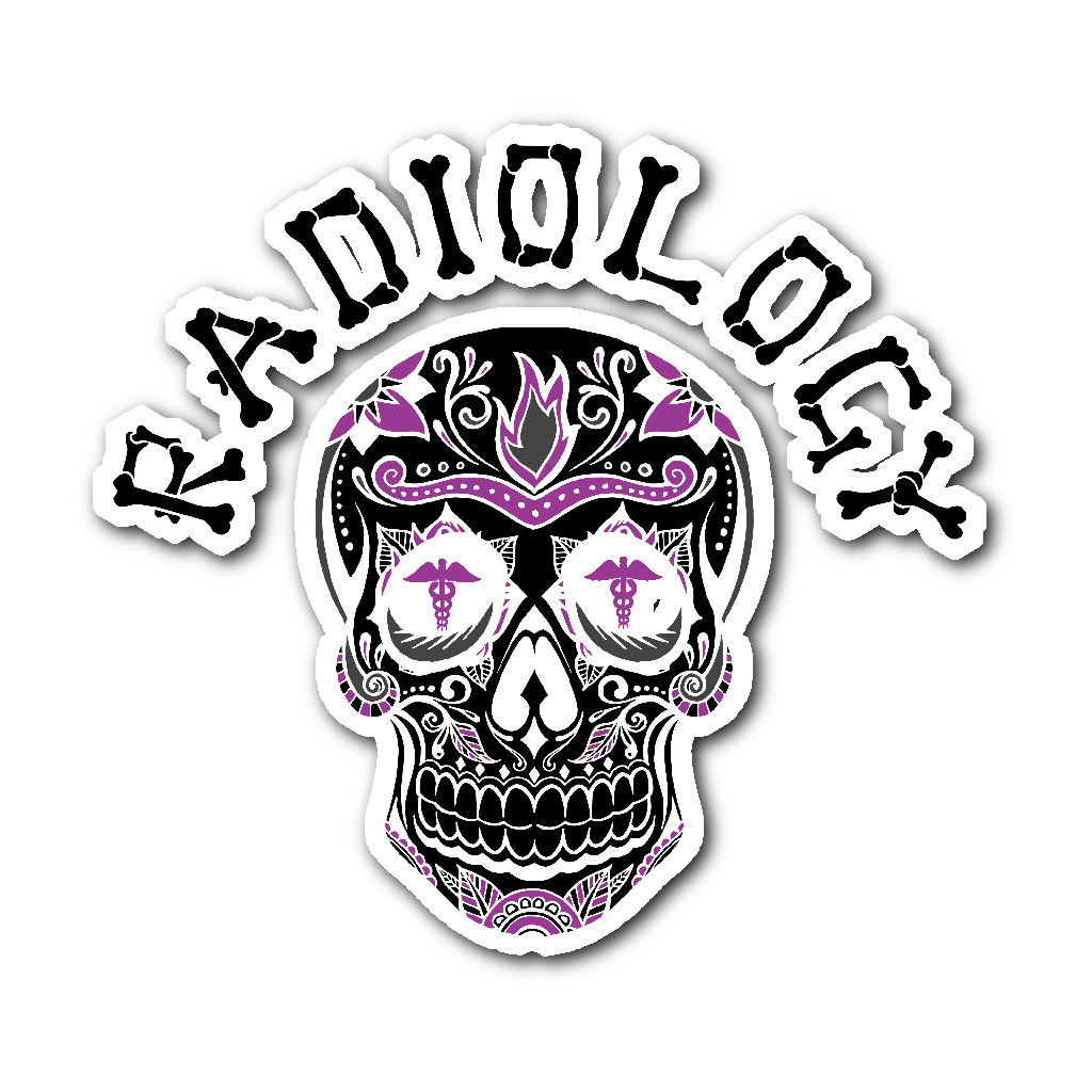 Radiology Skull Sticker