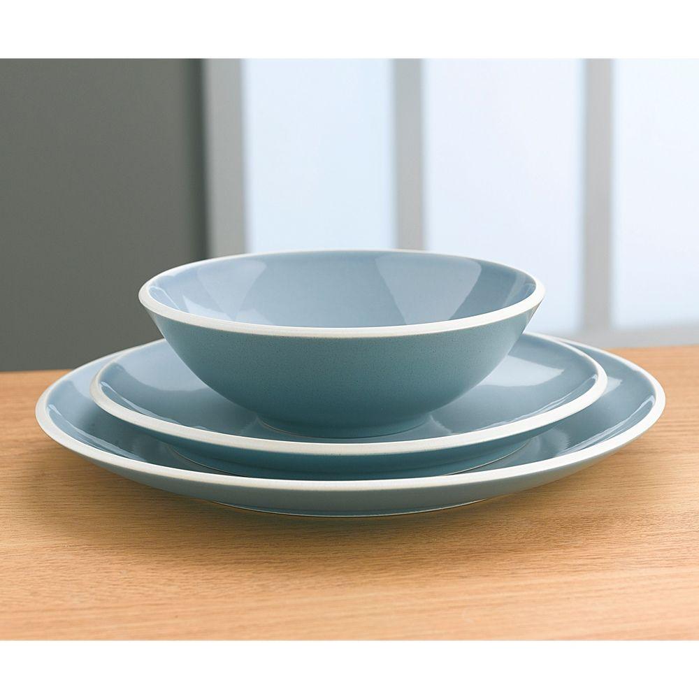Denby \u0027Intro Edge\u0027 Blue 12-piece Stoneware Dinnerware Set   Overstock.com  sc 1 st  Pinterest & Denby \u0027Intro Edge\u0027 Blue 12-piece Stoneware Dinnerware Set ...
