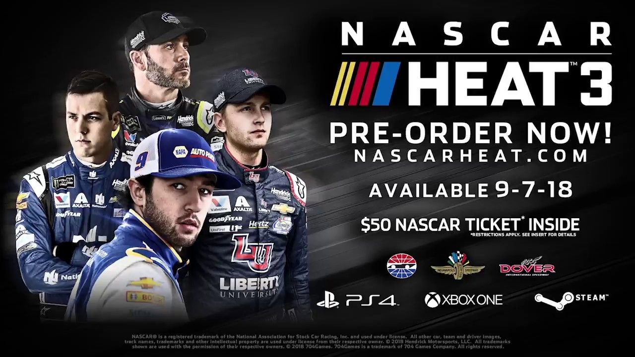 NASCAR Heat 3 Official Trailer Nascar heat, Nascar, Xbox one