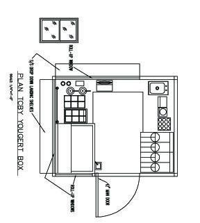 TCBY Yogurt Container Kiosk Plan designed by LU Schildmeyer