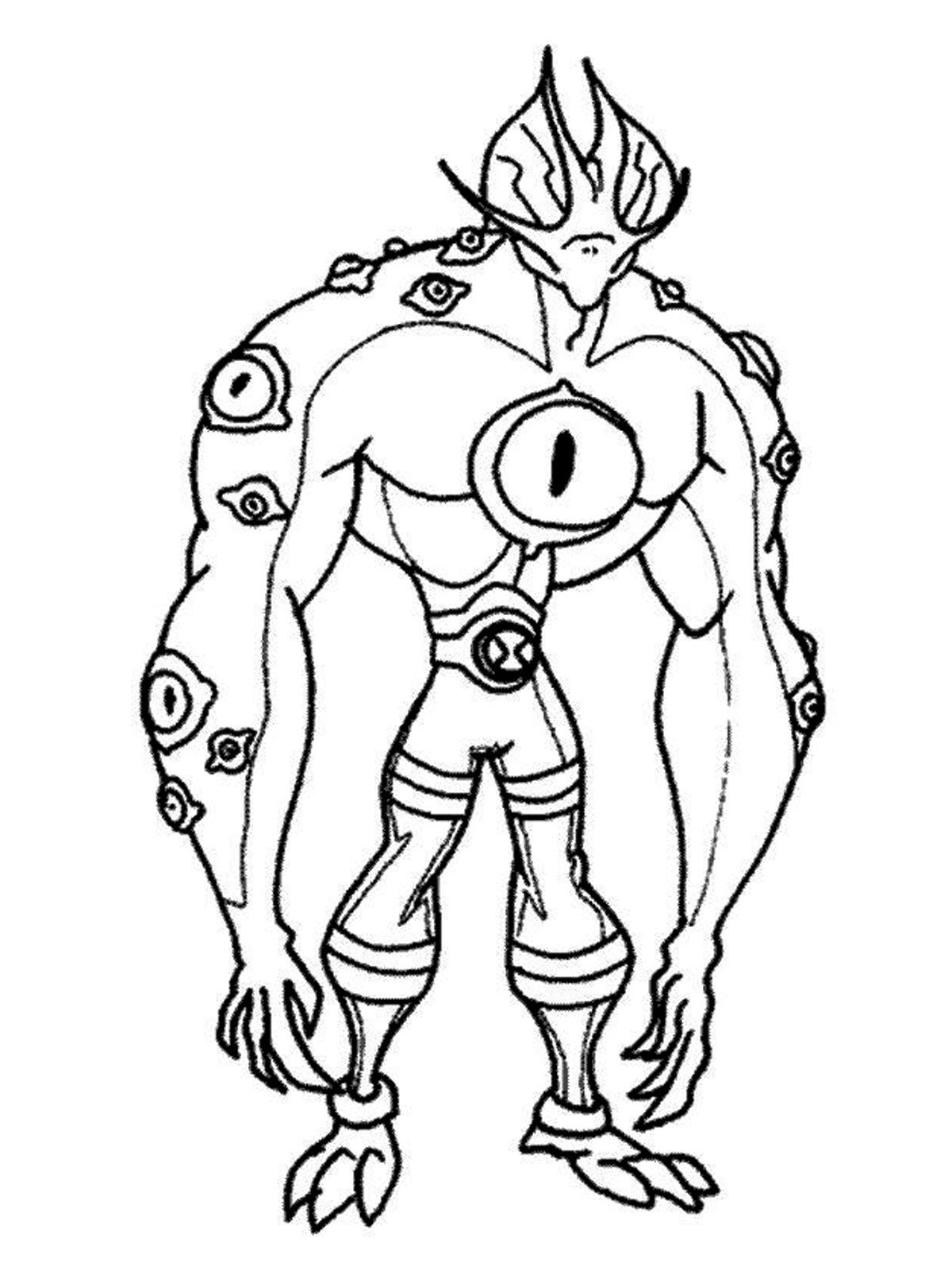 Ben 10 Swamp Fire Coloring Pages