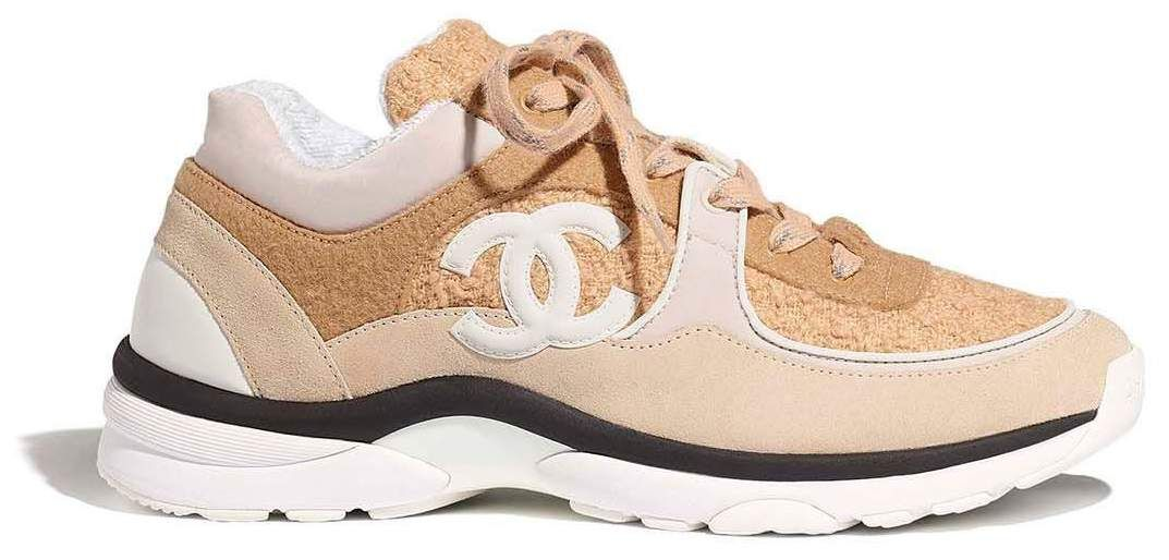 chanel low top trainer cc