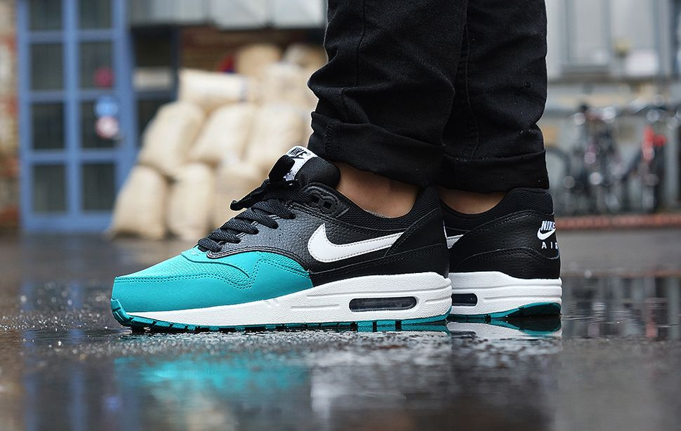 sale retailer 20993 ccbe5 Nike Air Max 1 GS  Black   Turbo Green  - EU Kicks  Sneaker Magazine