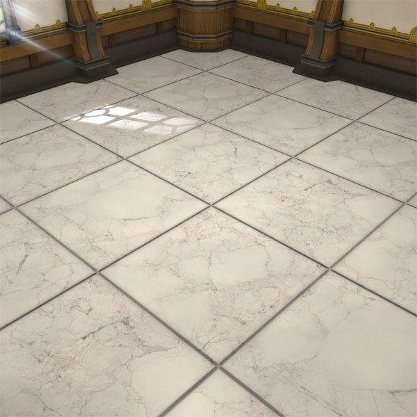White Marble Flooring Ffxiv Housing Interior White