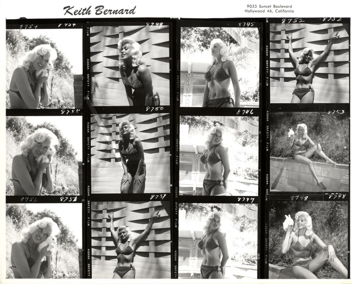 jayne mansfield contact sheet