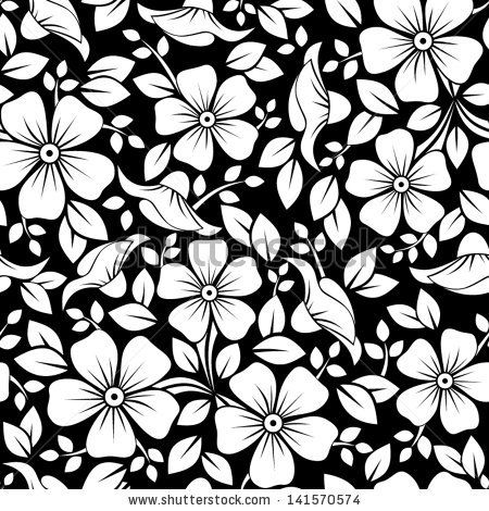 Seamless Pattern With Flowers And Leaves Vector Illustration