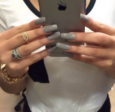 follow me xxlatykka  grey acrylic nails gorgeous nails
