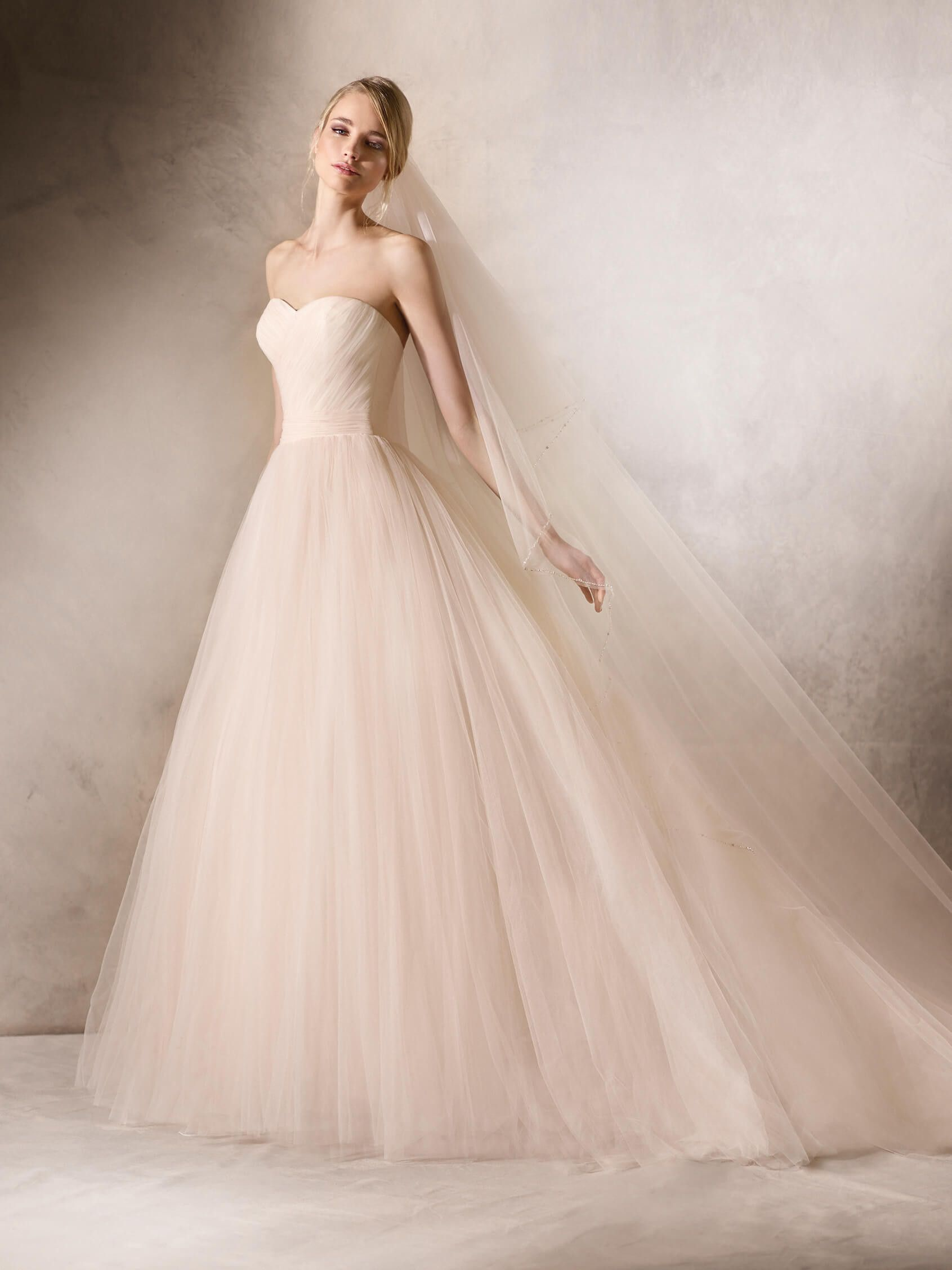 HALIMEDA is a delicate, princess wedding dress made entirely in ...