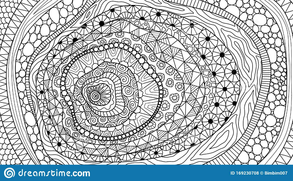 Hand Drawn Line Art Hill And Abstract Plant For Background Coloring Book And So On Vector Illustration Stock Vect Coloring Books Line Art Vector Illustration