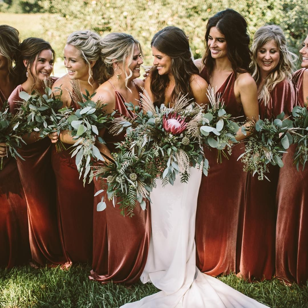 """6ebf608a77 Persephone on Instagram  """"Velvet bridesmaids dresses  Hell yes ✅These are  from my girls at  brideside who I m huge fans of"""