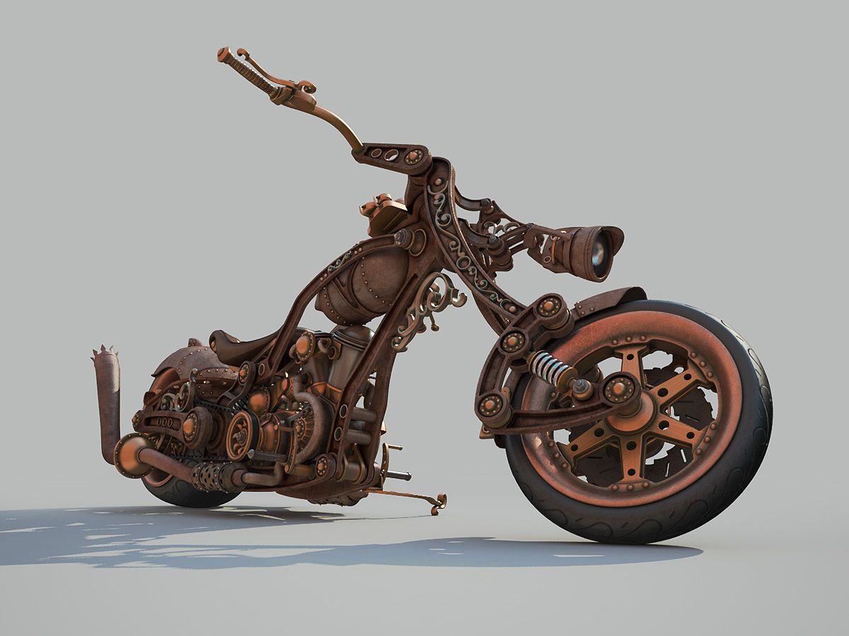 Steampunk Style Chopper
