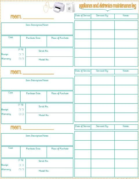 Printables For Home Inventory Good To Have For Insurance