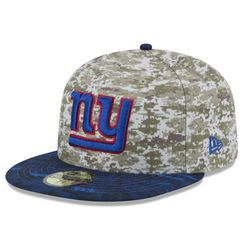 691e3218efd Men s New York Giants New Era Camo 2015 Salute to Service On-Field 59FIFTY  Fitted Hat