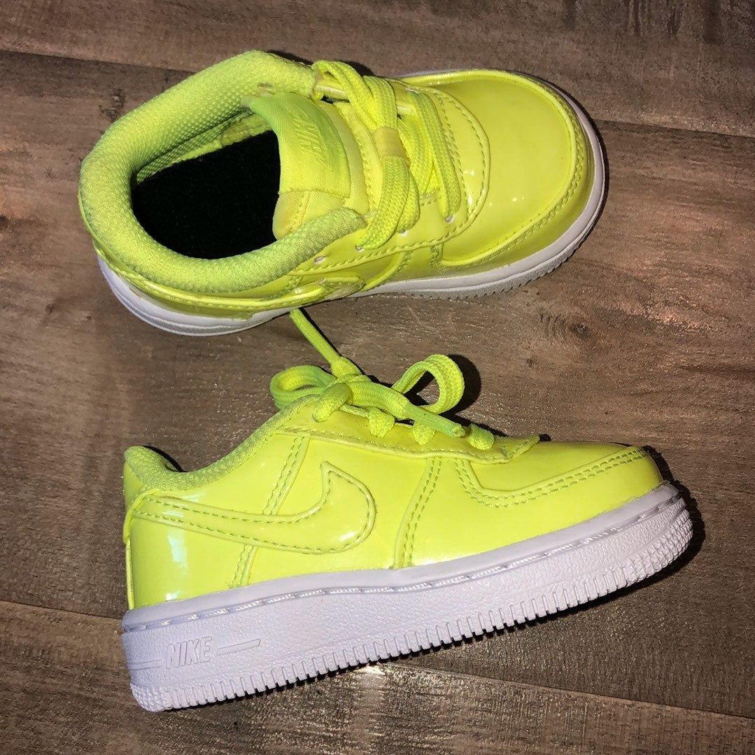 EUC Nike Air Force 1 neon yellow