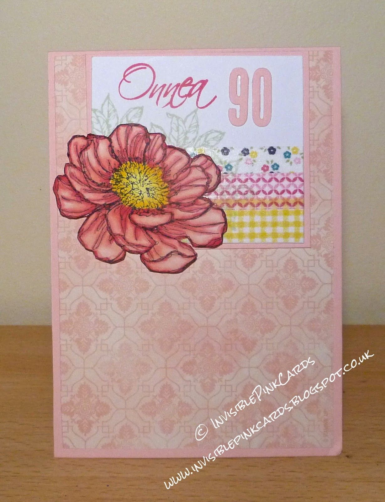 Invisiblepinkcards Birthday Card Using Stampin Up Venetian Romance