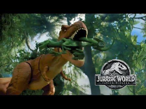 Jurassic World Fallen Kingdom Thrash Throw T Rex Toy Commercial