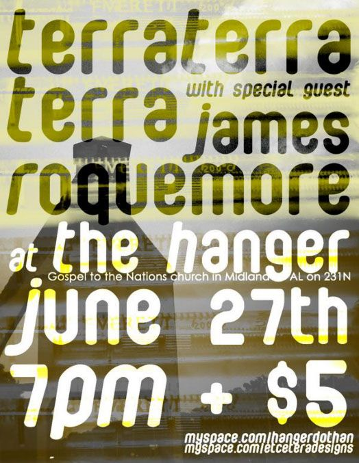 Terra Terra Terra gig poster by Travis Cooper