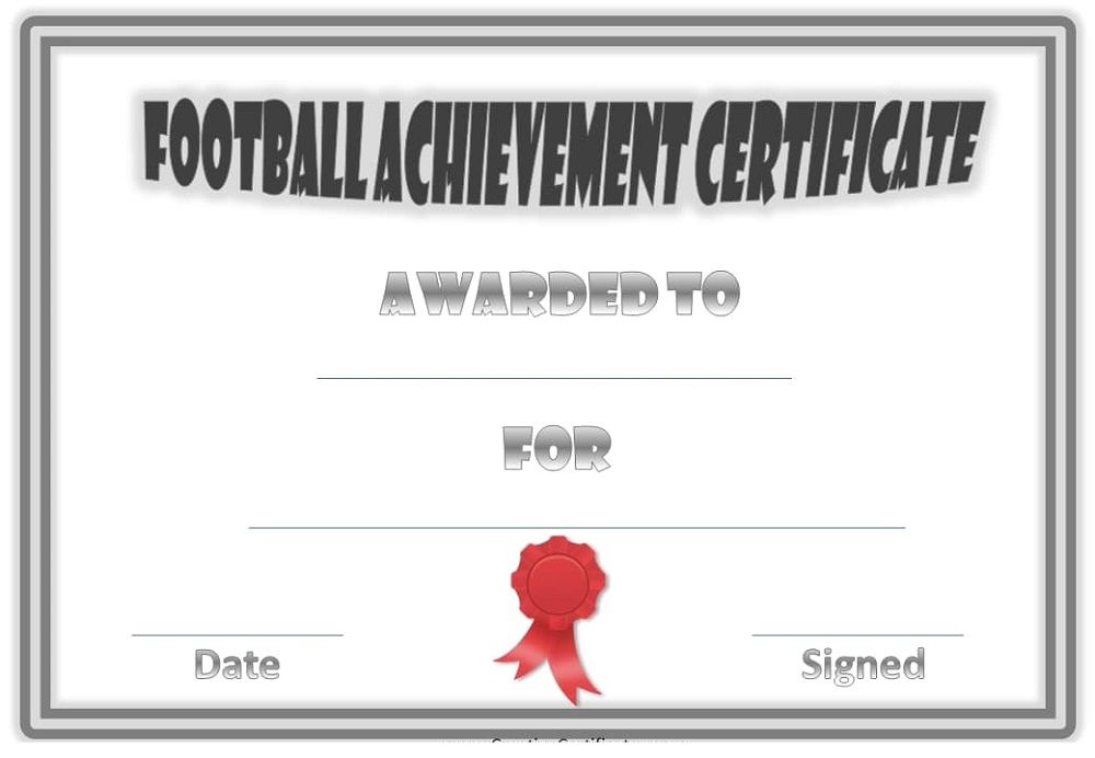 Football Certificate Templates To Print K5 Worksheets Blank