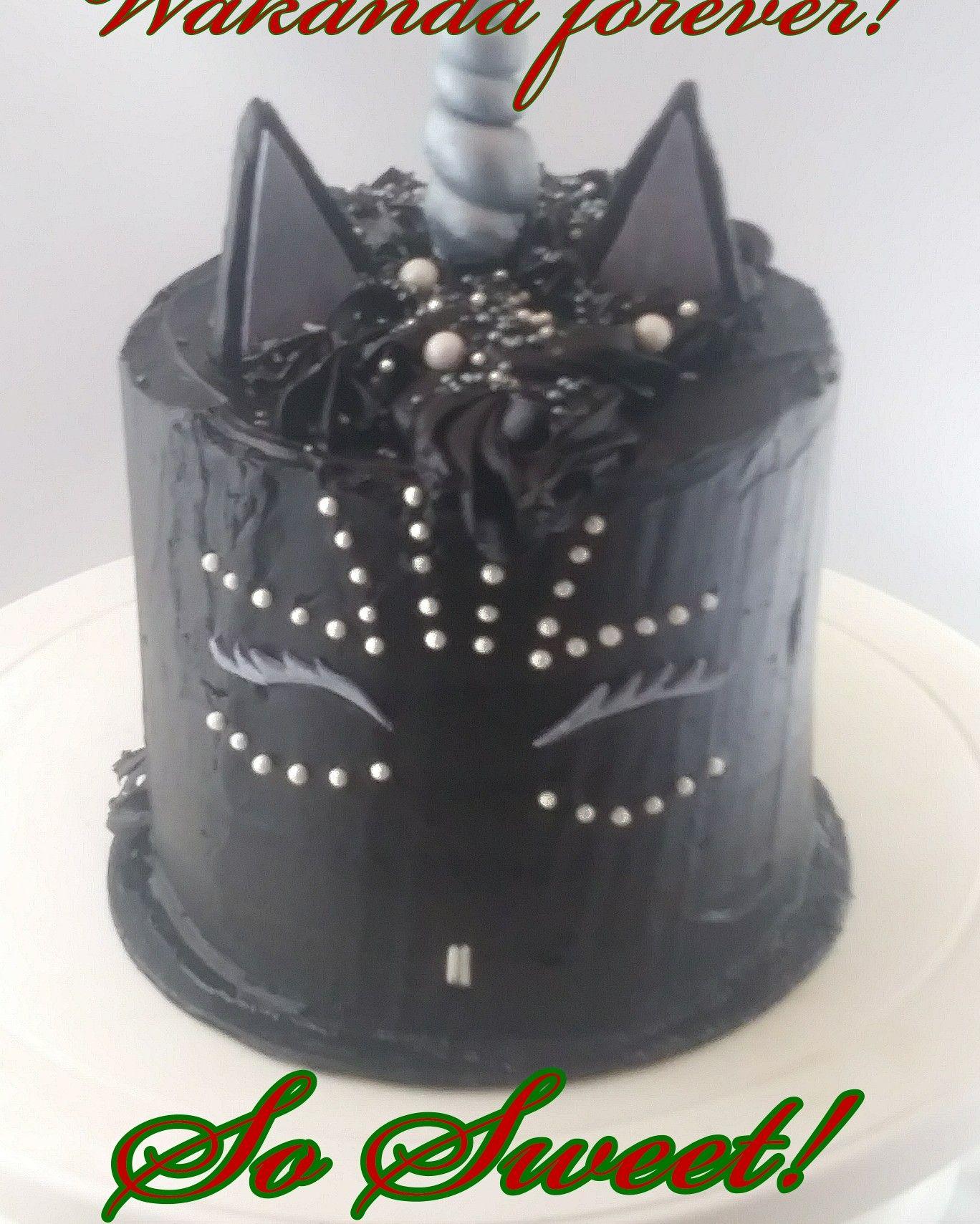 Shuri Black Panther Unicorn Cake In Buttercream 7th Birthday Party Ideas 16th Girl
