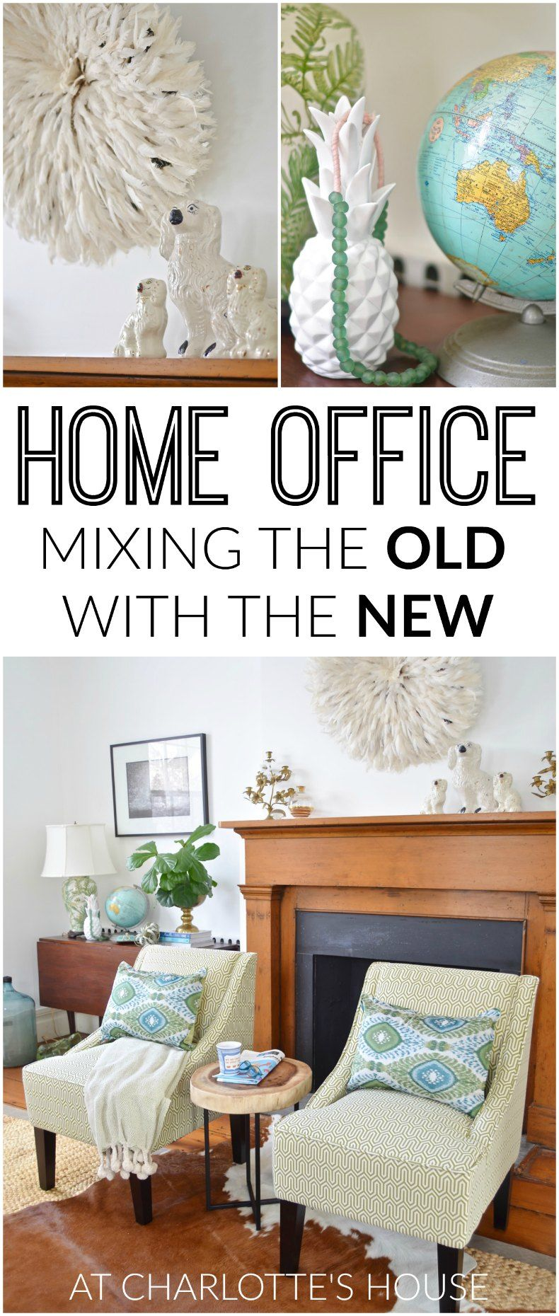 Beautiful Mixing The Old With The New In Our Home Office! #ad #KohlsHome And