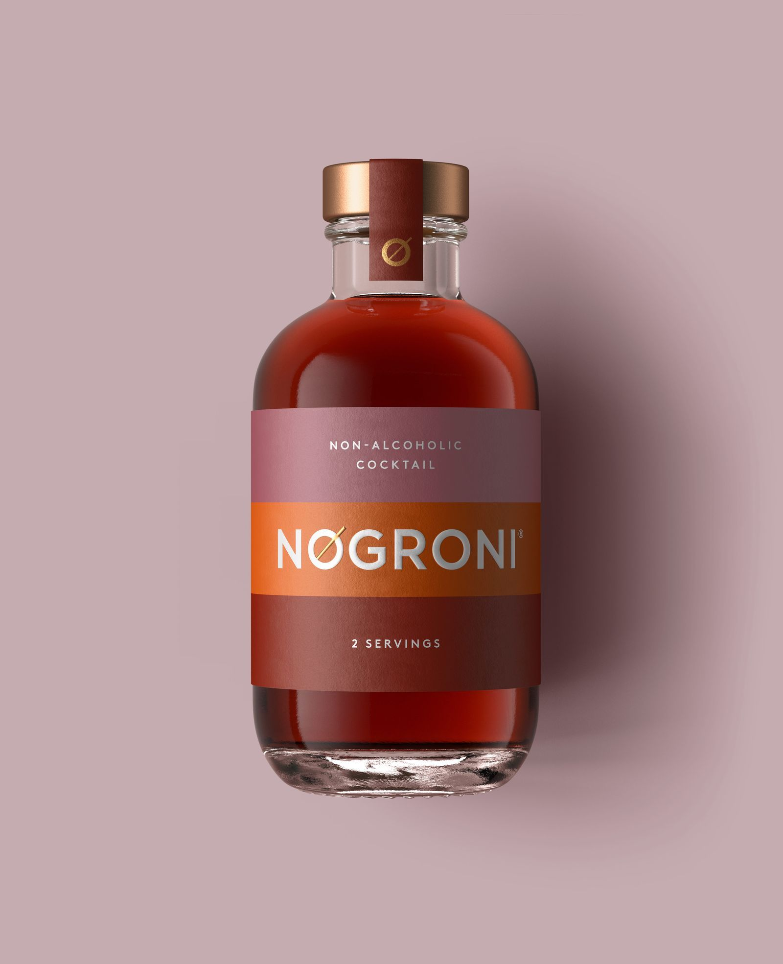 Love A Negroni Try Nogroni In 2020 Bottle Label Design Bottle Design Packaging Alcohol Packaging