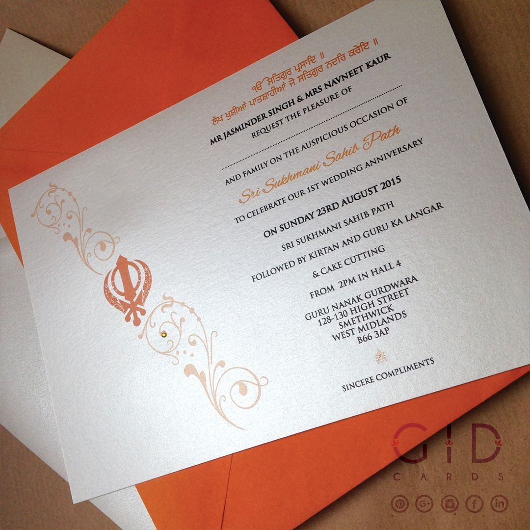 A custom layout and accent fonts gives this invitation a classy look