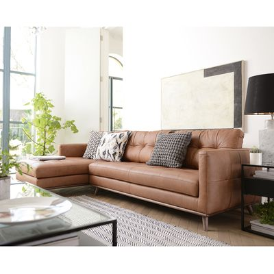 Our Mille Designer Sofa Offers A Soft Elegant Look With Its Contrasting Leather And Walnut The Slightly Splayed Legs Of Platform Base Has Mild