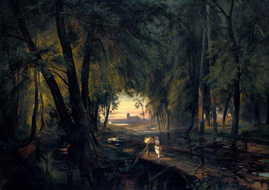 Carl Blechen, Forest Path Near Spandau, c. 1835