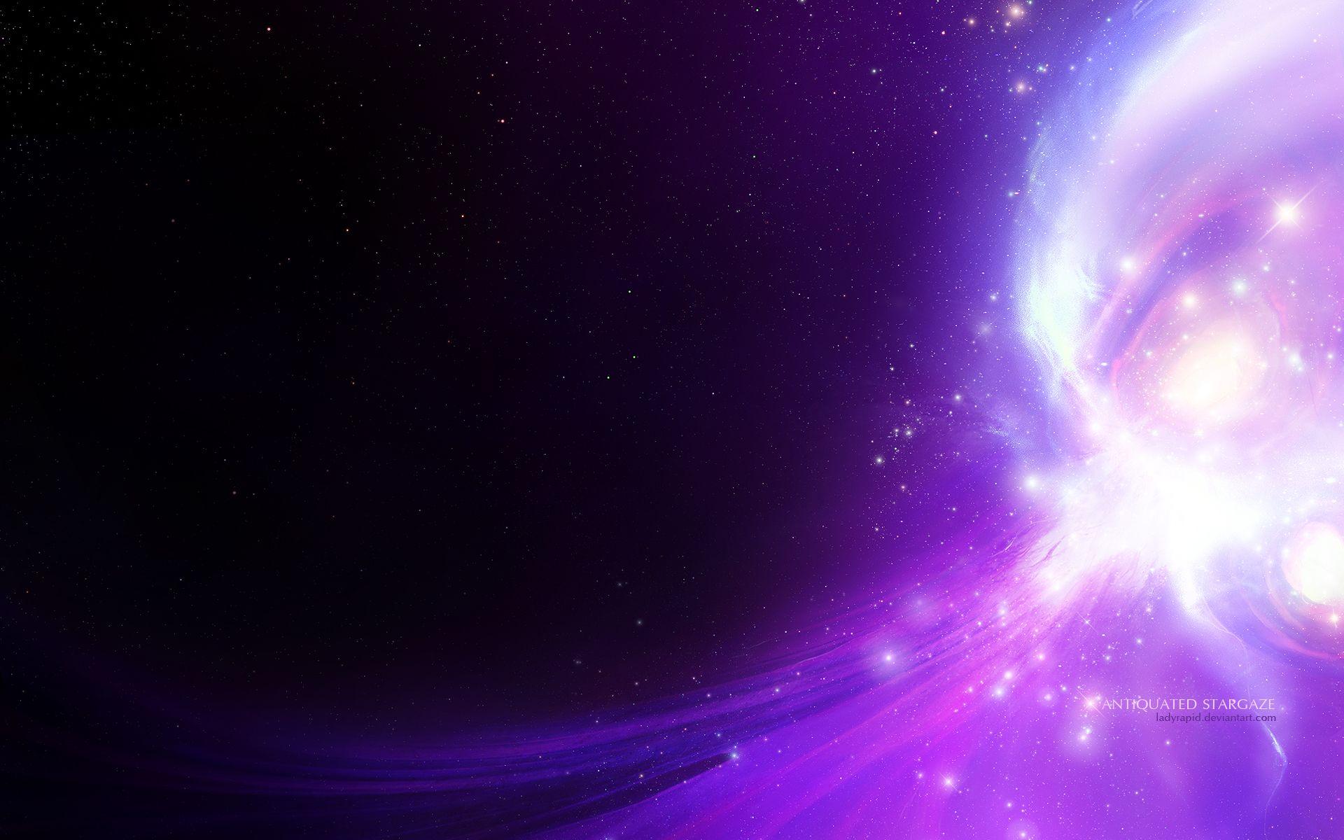 HD Purple Space Wallpaper