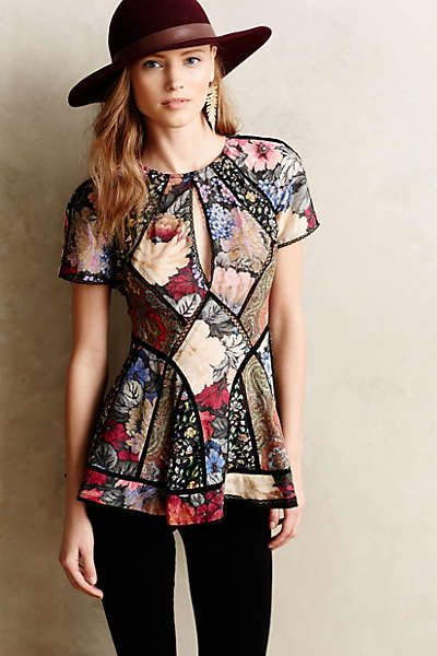 Anthropologie - Patchworked Peasant Tunic