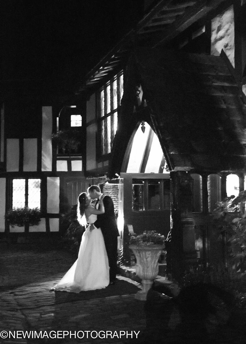 Hillbrook Chagrin Falls OH Backlit Bride and Groom at