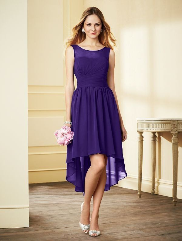 Alfred Angelo 7298S | High low bridesmaid dresses, Destination ...