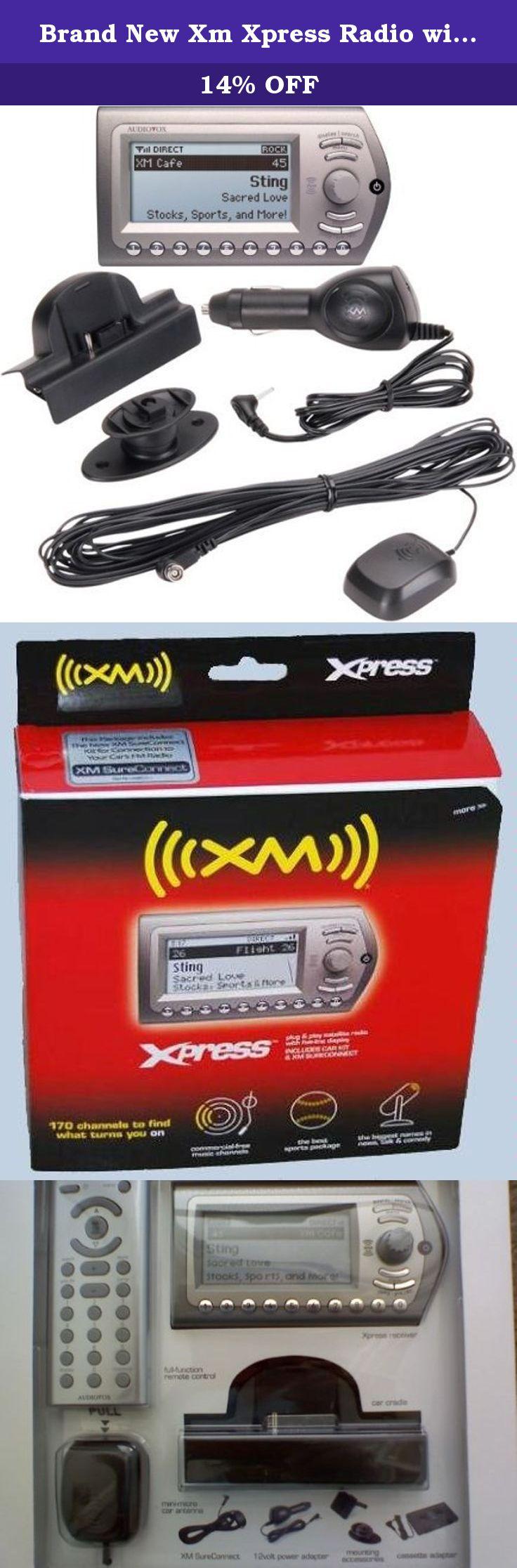 brand new xm xpress radio with car kit a brand new audiovox xpress rh pinterest se Audiovox Logo Audiovox Manuals Xt-946