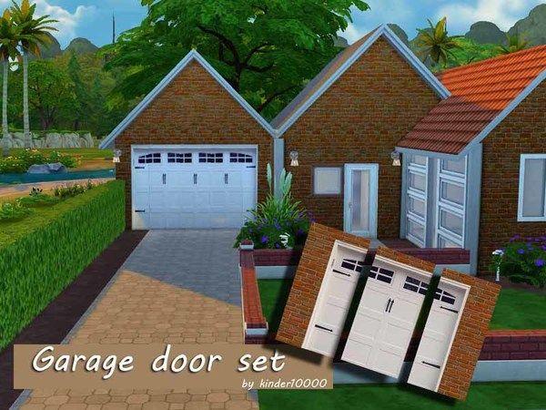 Kinder10000 S Garage Door Wall Set Garage Doors Garage Door Styles Garage Door Types