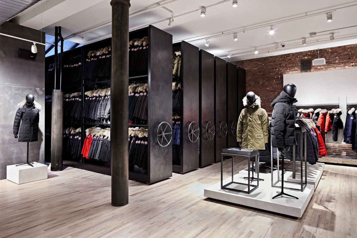 Canada Goose Launches Flagship Store In Nyc Canada Goose Store Canada Goose New York Retail Store Design