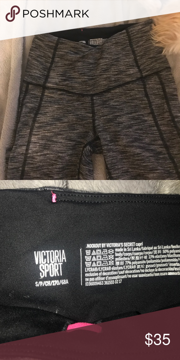 Victoria's Secret workout Capri Worn a handful of times. Size S Victoria's Secret Pants Capris