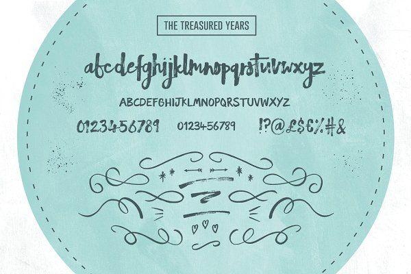 The Treasured Years Font Duo + Bonus by Sam Parrett on @creativemarket