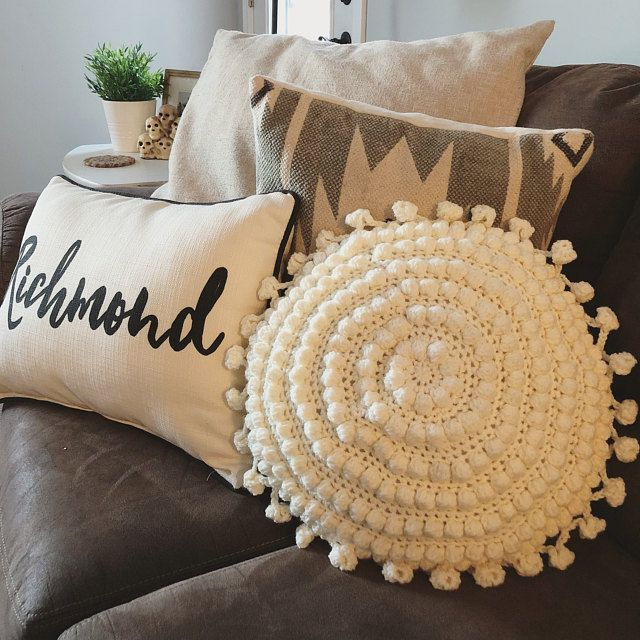 Crafty Boho Pillow Crochet PATTERN, Round Pillow Crochet Pattern, Boho Pillow Crochet Pattern, Trendy Pillow Crochet Pattern, Crochet Pillow