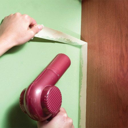 If The Tape Is Tearing When You Go To Peel It Off Heat It Up With Hair Dryer Then Remove It At A 90 Degree An Mess Free Painting Household Hacks