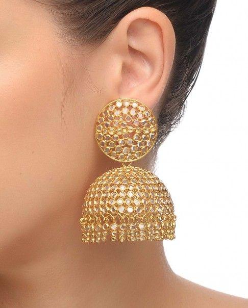 9118fa356 Crystal Big Jhumka Earrings - Amethyst by Rahul Popli | Bling it on ...