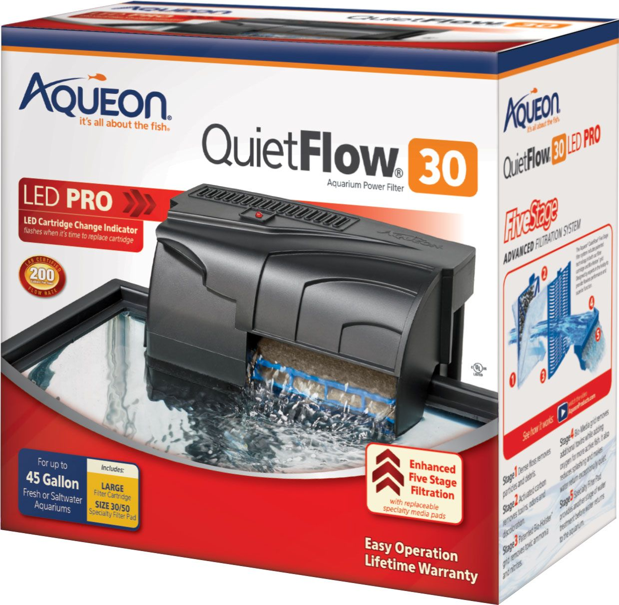Fish Aqueon Quietflow 30 Filter By Aqueon 3045gal/200gph