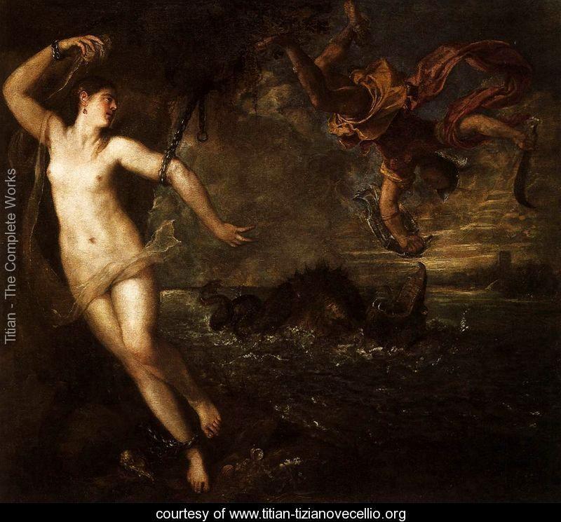 Perseus and Andromeda - Tiziano Vecellio (Titian)…
