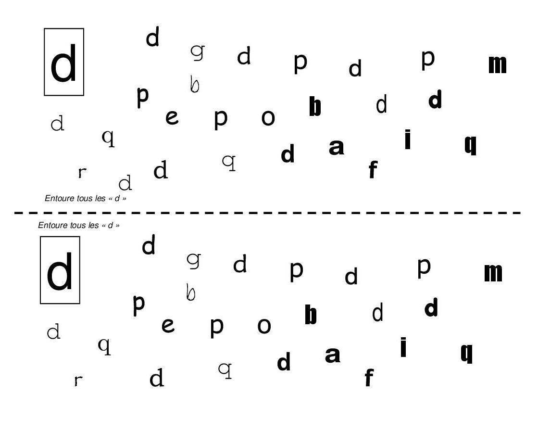 B D Letter Reversal Worksheet