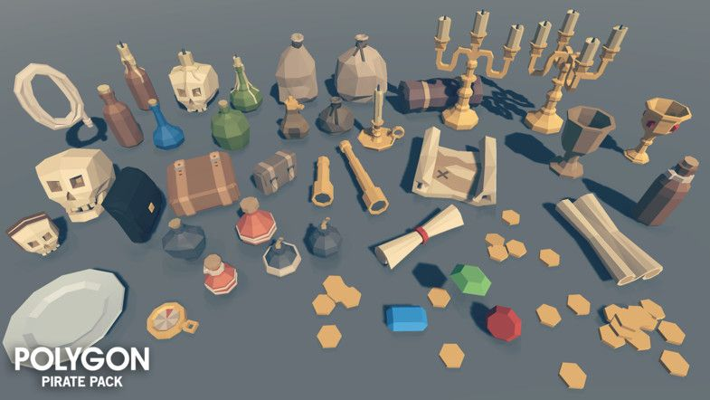 BIG ASSET PACK!!! Unity Awards 2017 Finalist A low poly asset pack