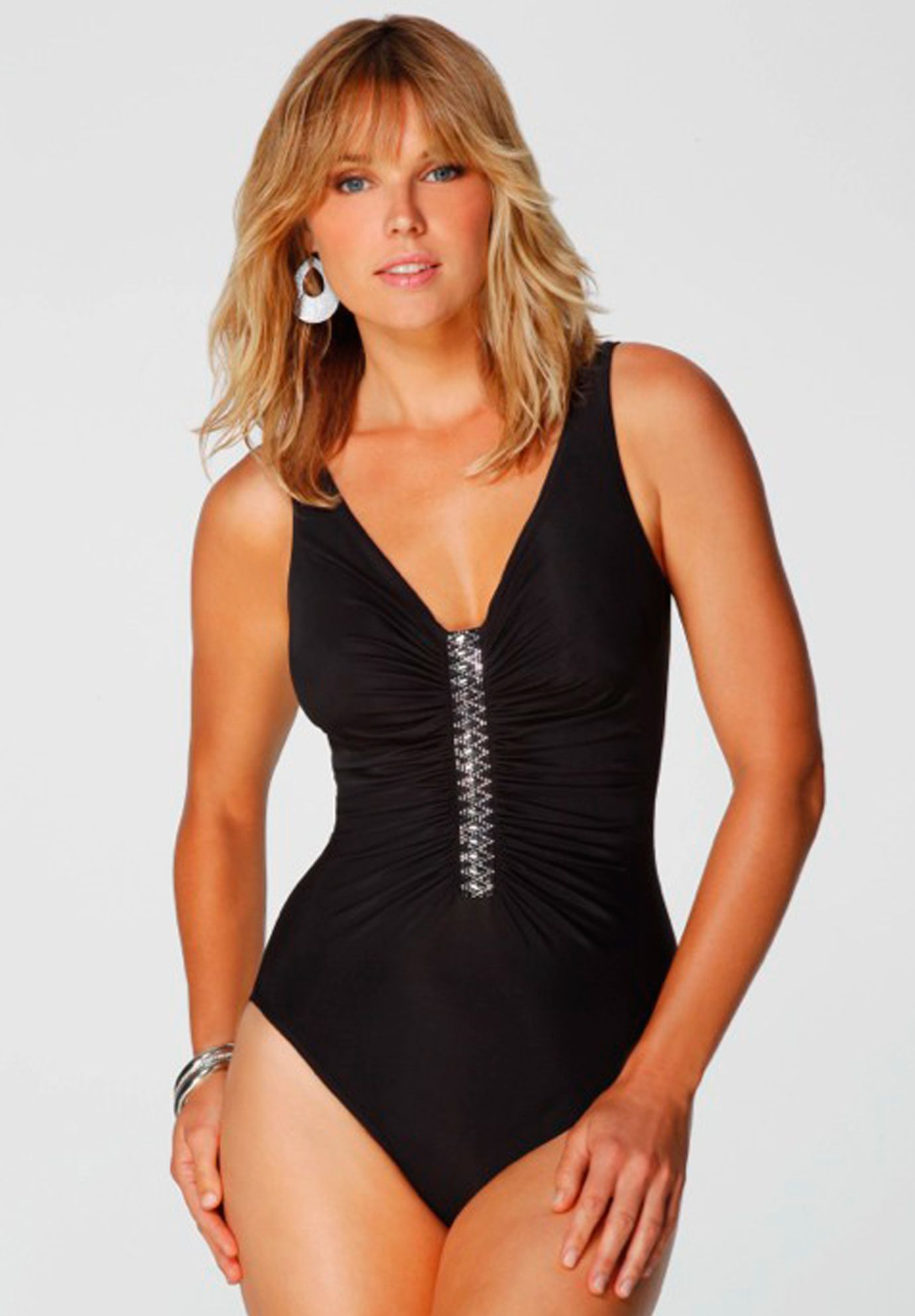 a161f21dfa9 Plus Size Jewel Box Solid One-Piece Swimsuit by Miraclesuit