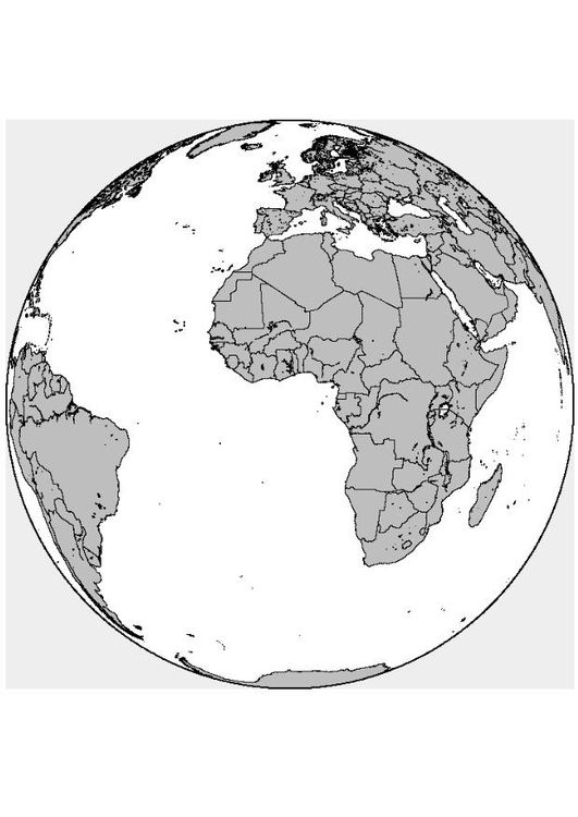 Malvorlage Afrika-Europa | Afrika Schule | Pinterest | Afrika ...