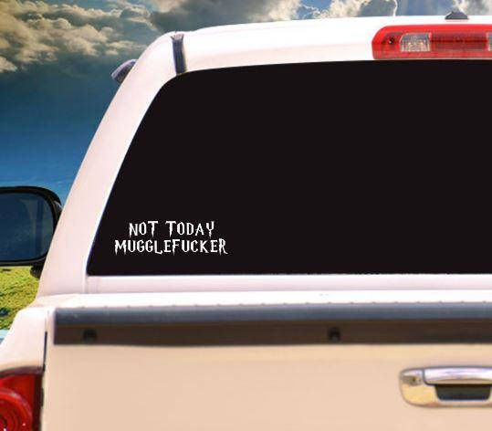 Muggle car sticker bumper sticker harry potter decal
