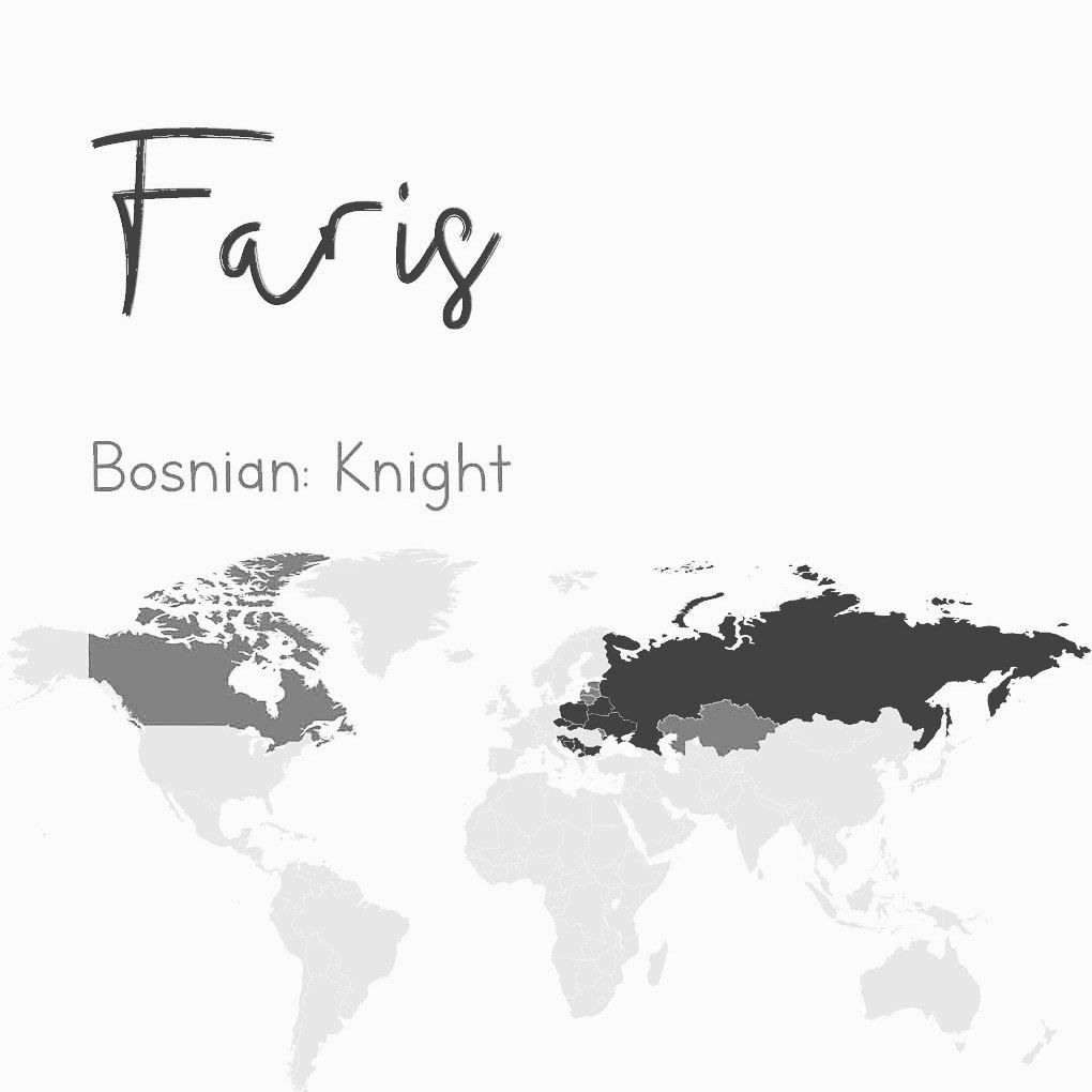 Faris Slavic names for Spring, name suggestion 6  Bosn