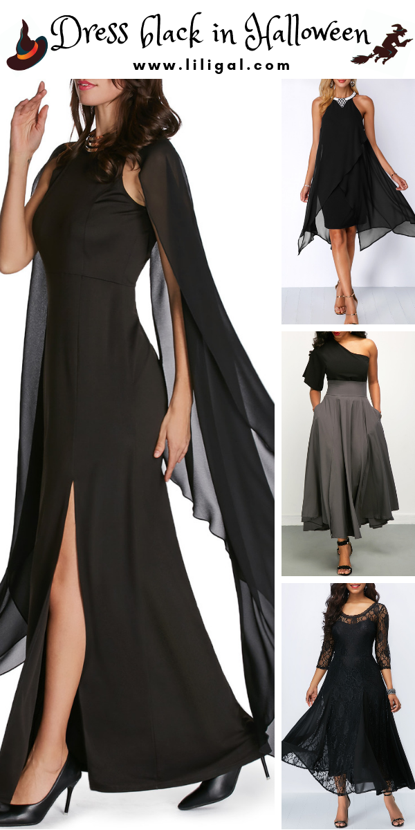 Black dresses for Halloween Costumes, great